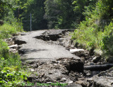 Washout of Turnpike Road Due to Hurricane Irene Flooding