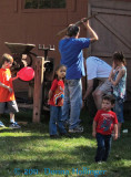 Kids love to watch Apple Cider Pressing