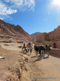 Walking up to St. Catherine's Monastery