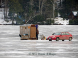 Ice Fishing At Lake Fairlee