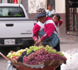 Selling Grapes at the Market