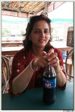 Relaxing at a Dhaba