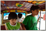 On board an auto rikshaw