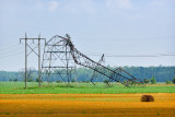 Storm Damage to Hydro One Towers In Lambton County 2011