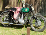 A  vintage  BSA   single  cylinder  motorcycle