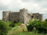 Medieval  tents  at  Carew