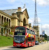 A  Red  Bus  at  the  Ally  Pally.