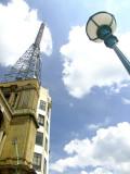 Ally  Pally  BBC  aerial  and  streetlight.