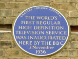GLC  Blue  Plaque  for  the  BBC  at  the  Alexandra  Palace.