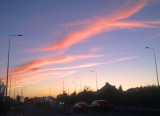 Sunset  over  the  A13.