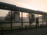 Early  morning  mist  on  the  bus  stand.
