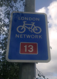 London  Cycle  Network  sign.