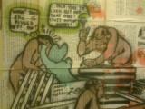 Grafitti ; gents  toilet, Wahaca  restaurant,