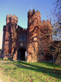 Shadows  are  lengthening  at  Lullingstone  Castle  Gatehouse