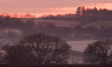 The  valley  of  the  Bourne  Brook  at  dawn.