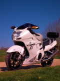 Honda CBR1100 XX  Superblackbird  in  white
