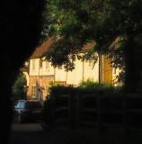 Early  sunlight  on  a  house, near  Dukes  Place.