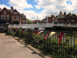 High  Street  Bridge  with  competition  bunting