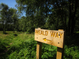 A  hand  crafted  Wealdway  sign.