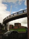 Carlisle  Castle, beneath  Millenium  Bridge.