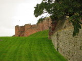 Carlisle  Castle, showing  old  City  Walls.