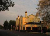 The  Maypole  pub, in  early  sunlight.