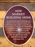 The  New  Market  Building 1855 / 6 , information plaque.