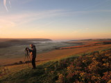 View  to  Cuckmere  Haven,  at  dawn.