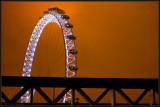 1/2 the London Eye at night
