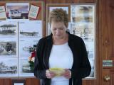 Carol bravely reading her personal eulogy