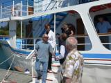 Neighbor Alan & Jolly disembarking, brother Al
