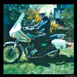 Me with my Kawasaki 650 back in the 1980's
