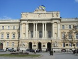 the University of Lviv, across from the park