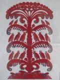 cut-paper folk art on display