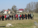 the group assembles at the site