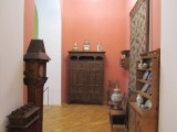 the furniture collection includes Hutsul and Zakopane design motifs...