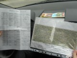 on the road with map and list