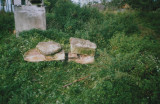 remains of gravestones (photo)