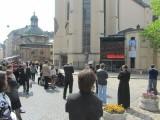 at a Polish cathedral...
