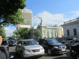 Kyiv: traffic, art nouveau, and Soviet, side by side