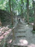 this time we are able to complete the trail loop... which means a hike up out of the steep canyon