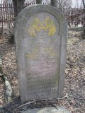 few gravestones are still standing like this one