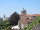 now overlooking the monastery in Melk