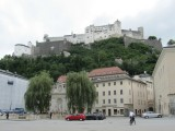 another view up the hill to the Festung Hohensalzburg