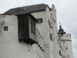 on the castle parapet