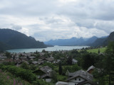 at a rest stop above St. Gilgan on the Wolfgangsee