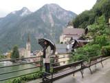 a walk through Hallstatt in a light rain