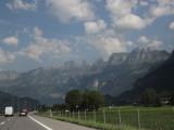 leaving Liechtenstein, heading west into Switzerland...