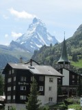 arriving in Zermatt, a familiar icon awaits