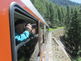 ...to catch the cog train up to Gornergrat